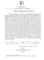 EDITAL DE CONVOCAÇÃO Nº 002-2021