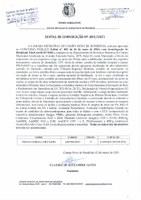EDITAL DE CONVOCAÇÃO Nº 003-2021