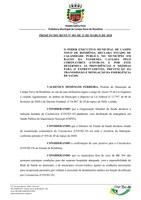 PROJETO DECRETO N° 001 - 2020 E AUTÓGRAFO